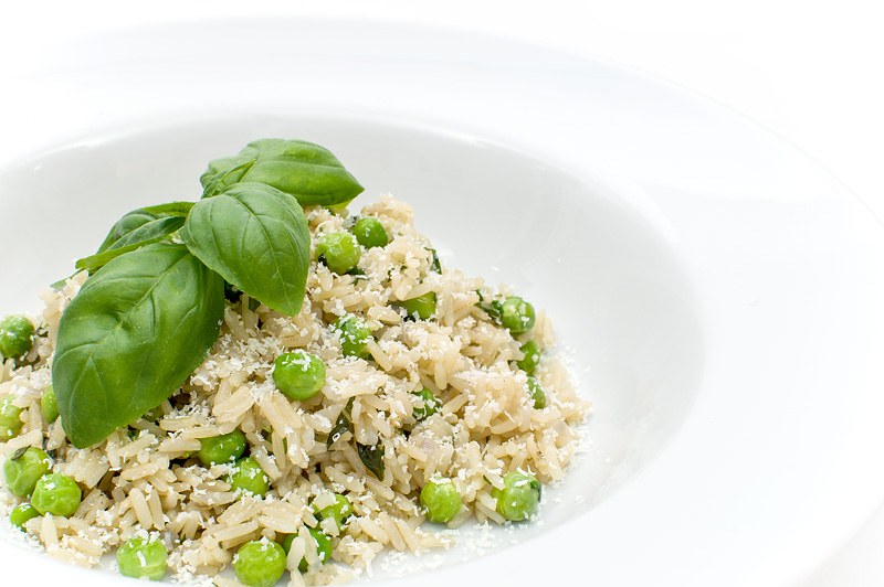 Risotto with young peas