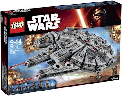 TOYS : JUGUETES - LEGO Star Wars VII  75105 Halcón Milenario | Millennium Falcon   Star Wars Episodio VII El Despertar de la Fuerza - The Force Awakens  Producto Oficial Película Disney 2015 | Piezas: | Edad: 9-14 años  Comprar en Amazon España & buyAmazon USA