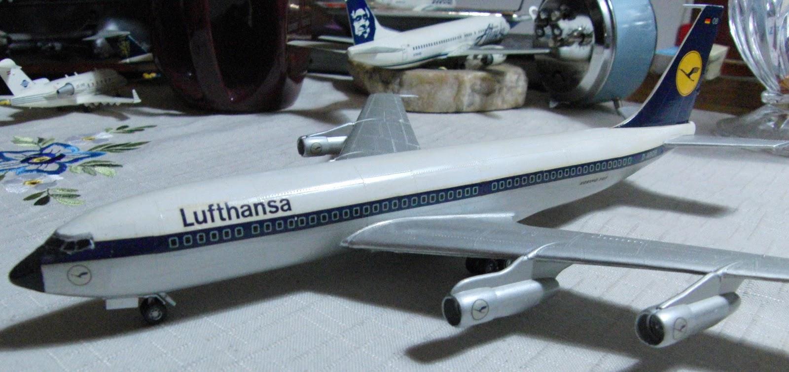 Jn Model Kits Review Revell 1 144 Boeing 707 320b Lufthansa