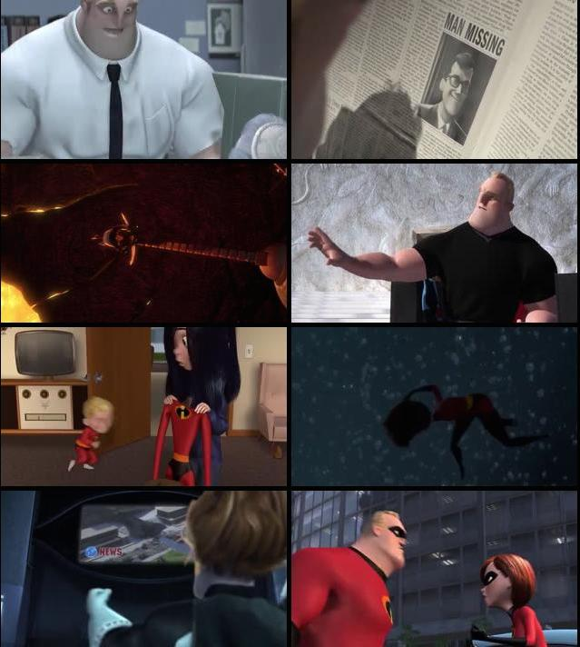 The Incredibles 2004 Hindi Dual Audio BRRip 480p