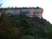El Roc Gros vist des del tram de la via romana