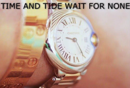time and tide waits for none Time & tide waits for none time is the most precious thing for a man as it comes only once in someone s life and never stays long whether favorable or.
