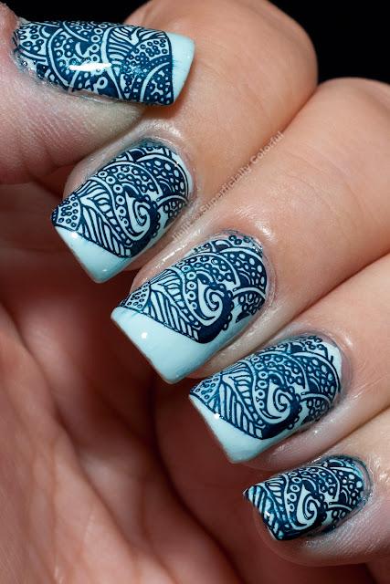Picture Polish Sky Mehndi Henna Nail Art