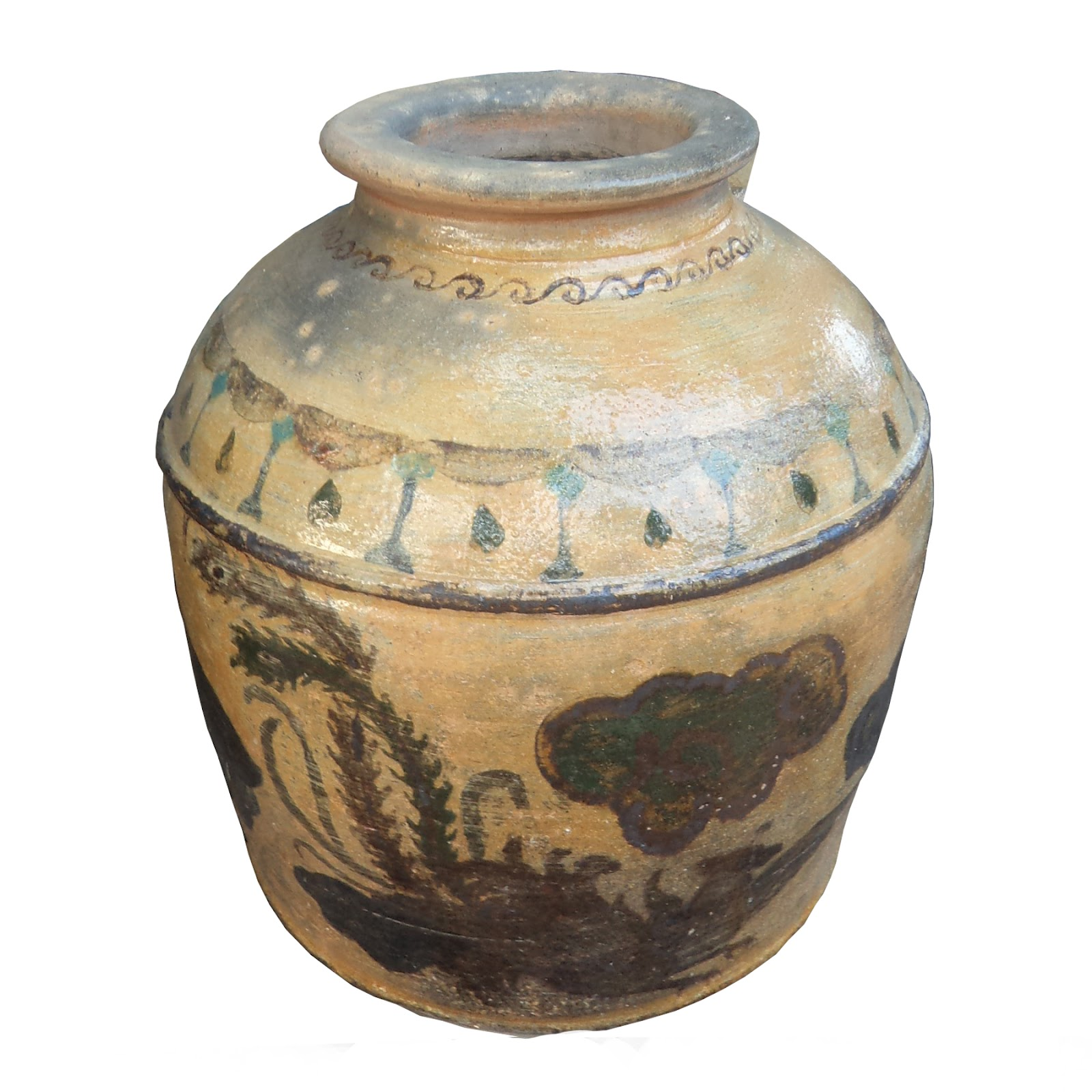 GERABAH NUSANTARA: Guci Motif China Kuno