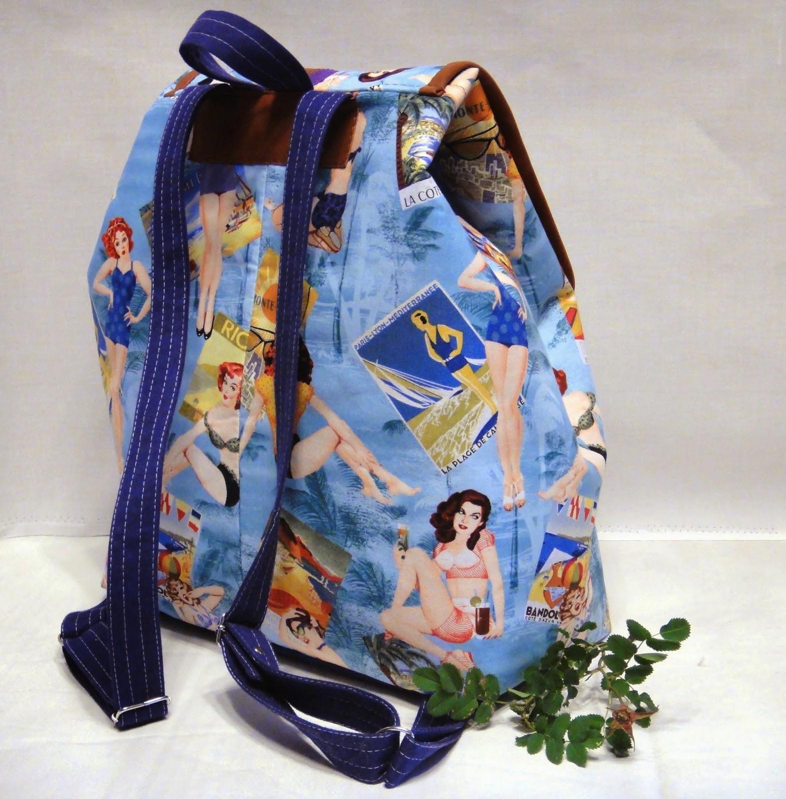 женский рюкзак на лето с длинными бретелями