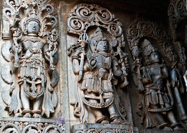 The last three were Vishnu with Adishesha, Shiva and the last one coudnt recall the name
