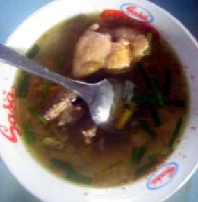 Kuliner Sup Kesrup khas suku Using, Banyuwangi.