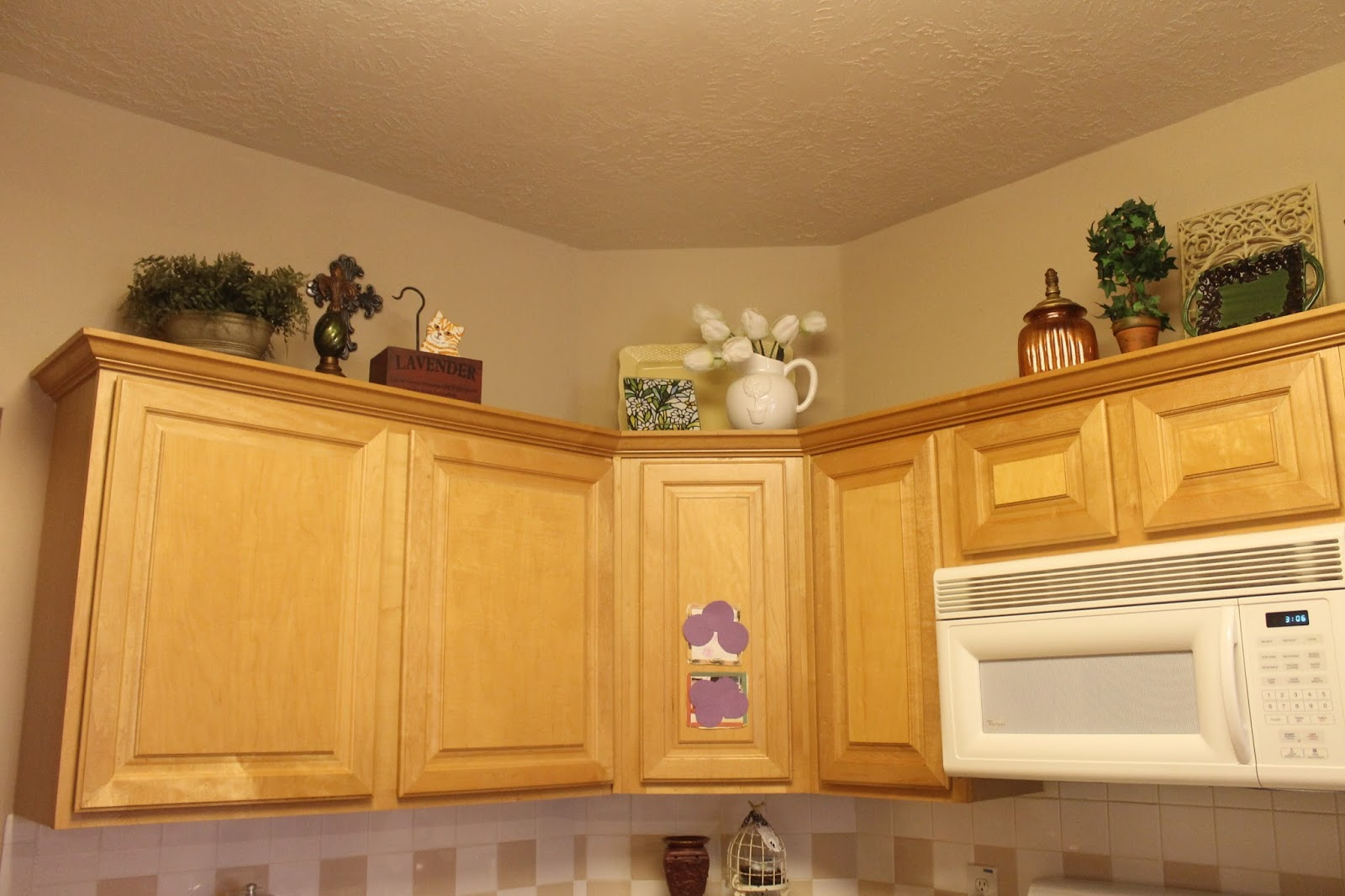 Texas decor rearranging the tops of my kitchen cabinets for Kitchen cabinets 0 financing