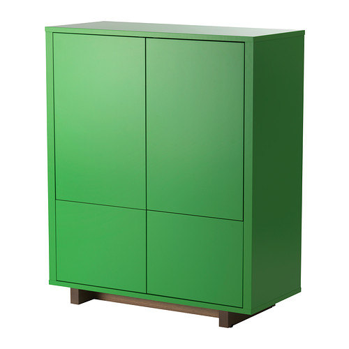green Ikea Stockholm cabinet with drawers