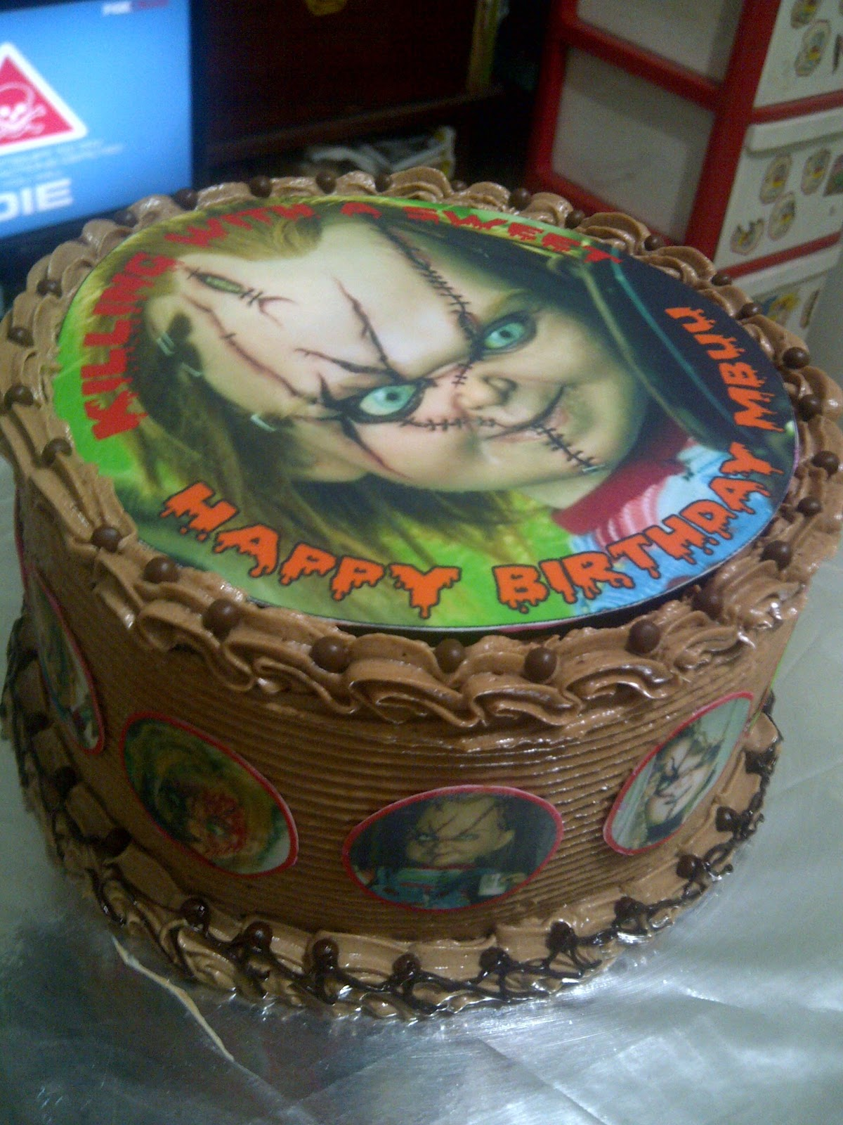 Mardyanis Kitchen Scary Chucky Themed Birthday Cake