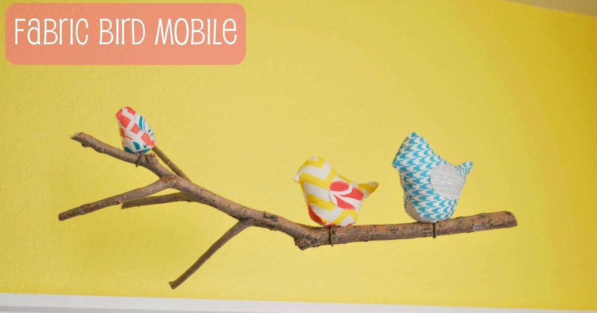 A glimpse inside nursery project 2 fabric bird mobile for Bird nursery fabric