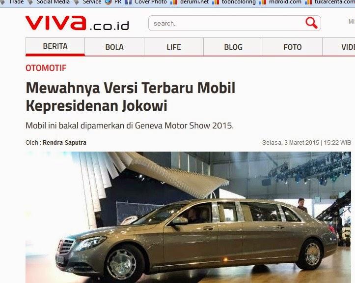 Mewahnya Versi Terbaru Mobil Kepresidenan Jokowi