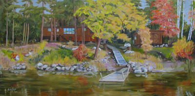 Kathy Schifano, cabin painting, oil painting