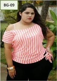 blusa rayas verano gorditas 2014