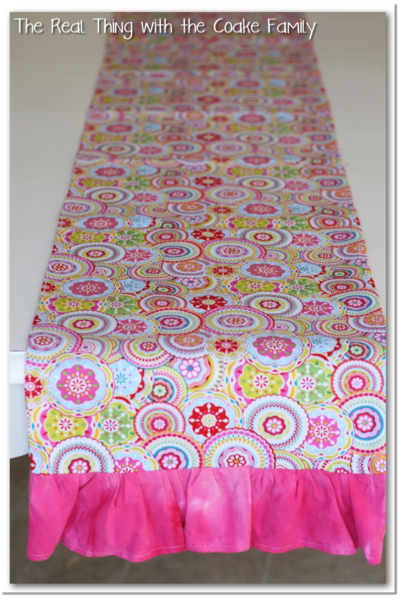 Table runner pattern the real thing with the coake family table runner pattern watchthetrailerfo