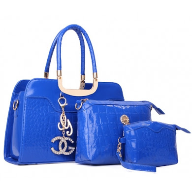 AA FASHION BAG ( 3 IN 1 SET) (BLUE)