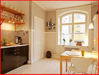 hiasan dalaman dapur rumah teres kecil dan cantik