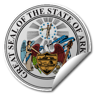 Sticker of Arkansas Seal
