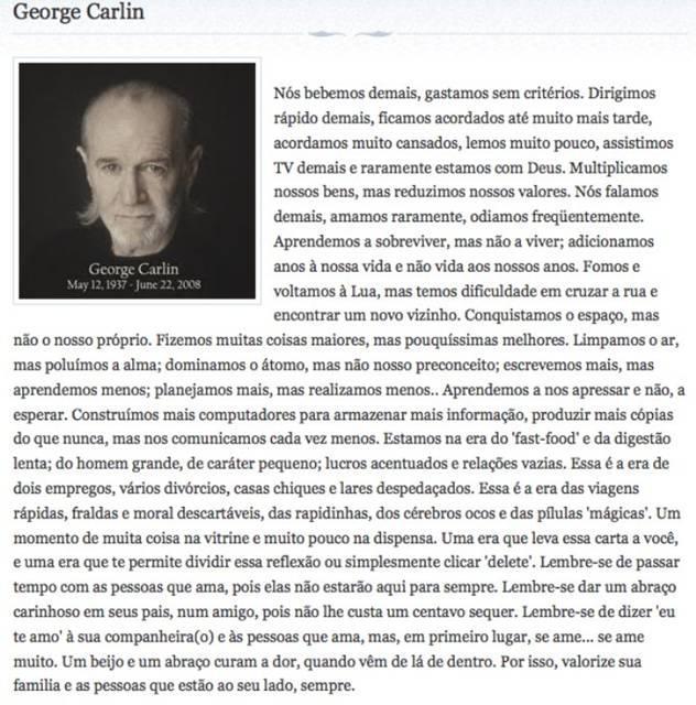 Texto de george carlin