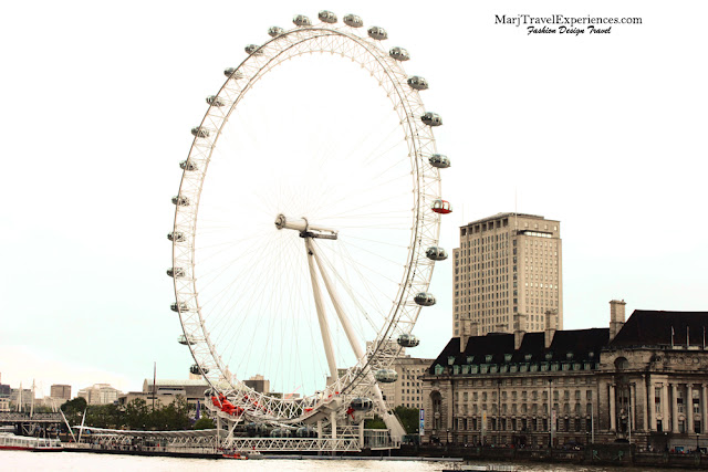 London Eye the tourist attraction in South Bank of London City UK