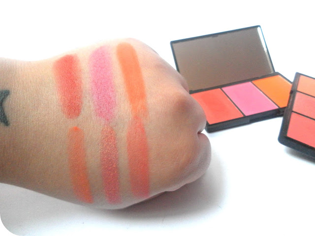 Swatches of Sleek Blush by 3 in Pumpkin and Lace