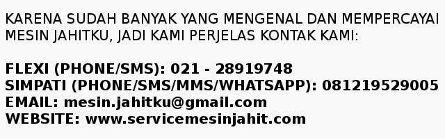 Bengkel dan Dealer Mesin Jahit Singer Murah Indonesia