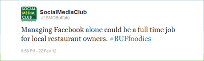 Managing Facebook alone could be a full time job for local restaurant owners. #BUFfoodies
