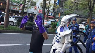 Baikinman and White and purple creature costume