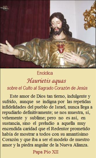ENCÍCLICA  HAURIETIS AQUAS