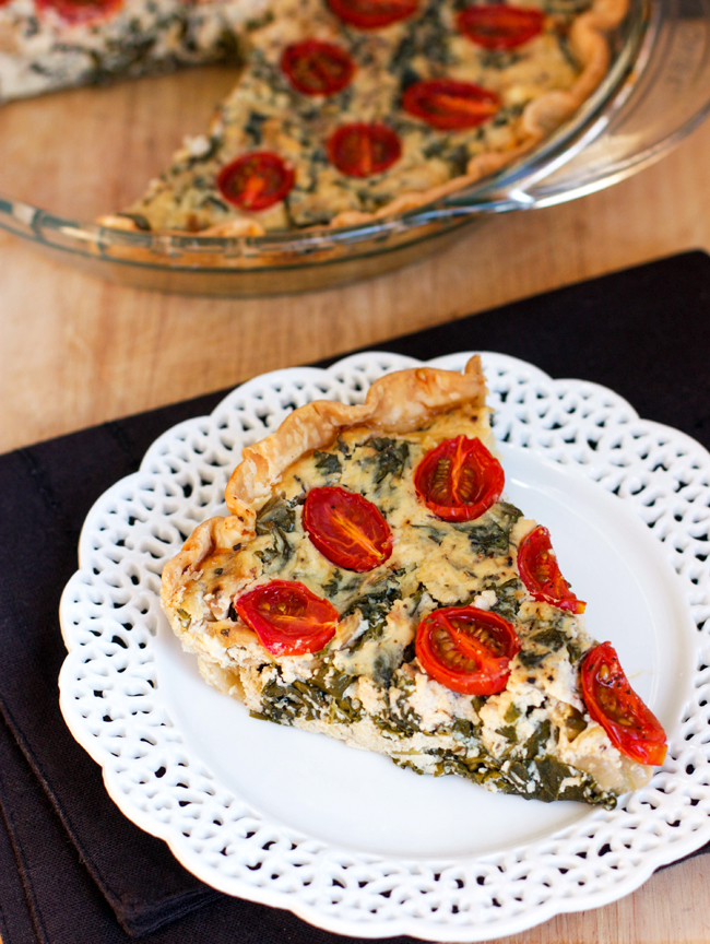 Amanda k. by the Bay: Kale Ricotta and Feta Pie