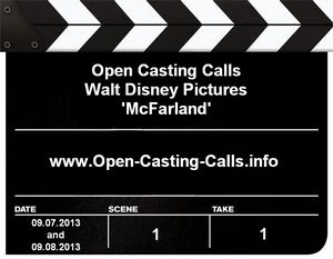 Disney Open Casting Call McFarland