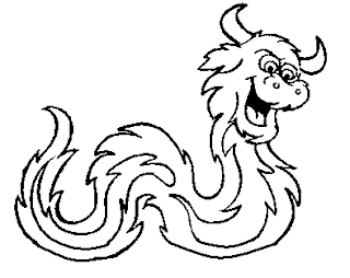 Desenho para colorir - Folclore - Boitatá