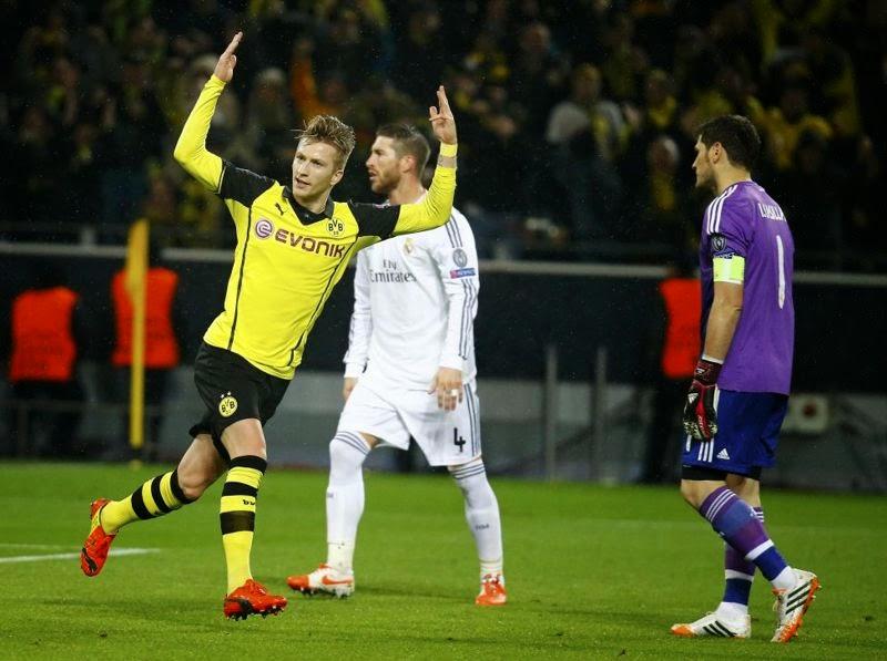 Marco Reus celebra su segundo gol