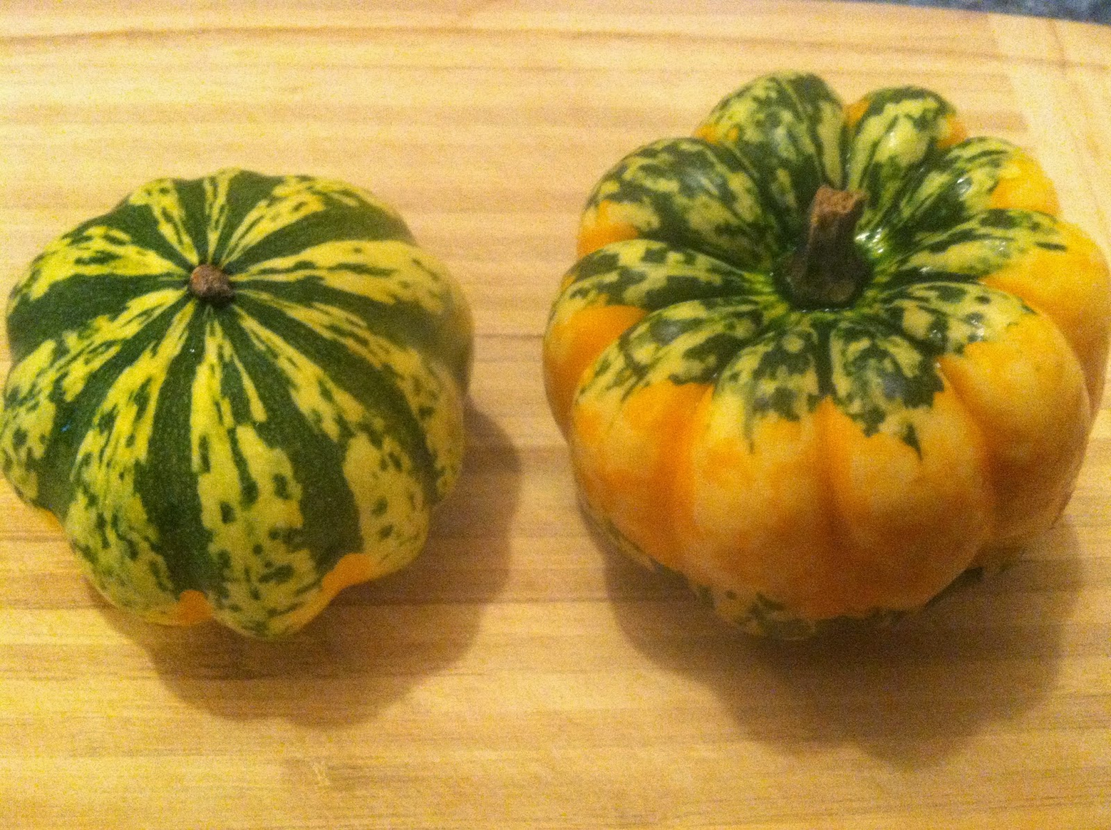 carnival squash for a linguine dish.