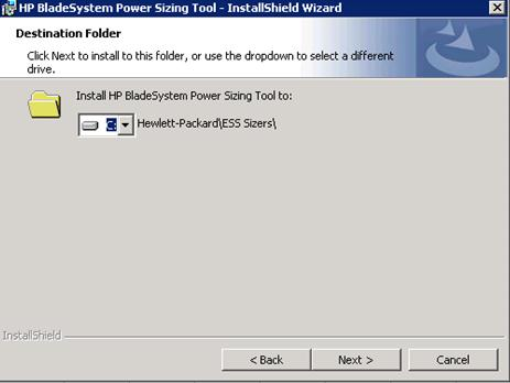 HP Blade power sizer tool