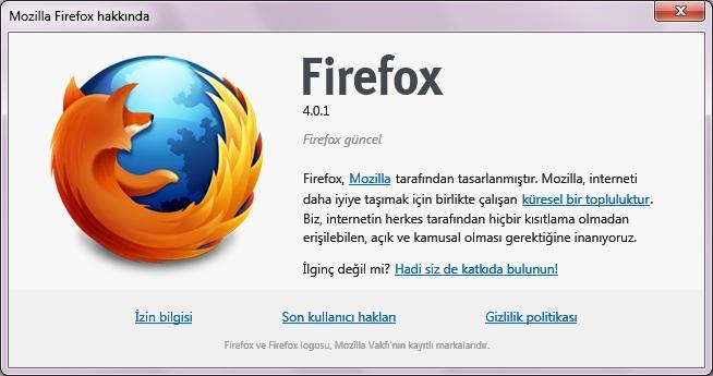 Firefox 4.0.1 güncelleme tamamlandı