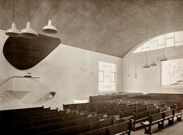 Pays-Bas - La Haye / Den Haag - Adventkerk -Eglise  Architecte: Karel Lodewijk Sijmons  Construction: 1951-1955
