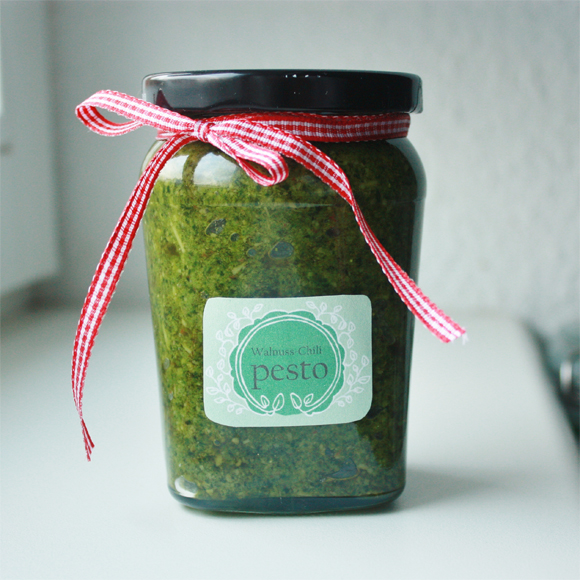 Elly'S Art: Adventskalender 2012 - 4 - Walnuss Chili Pesto