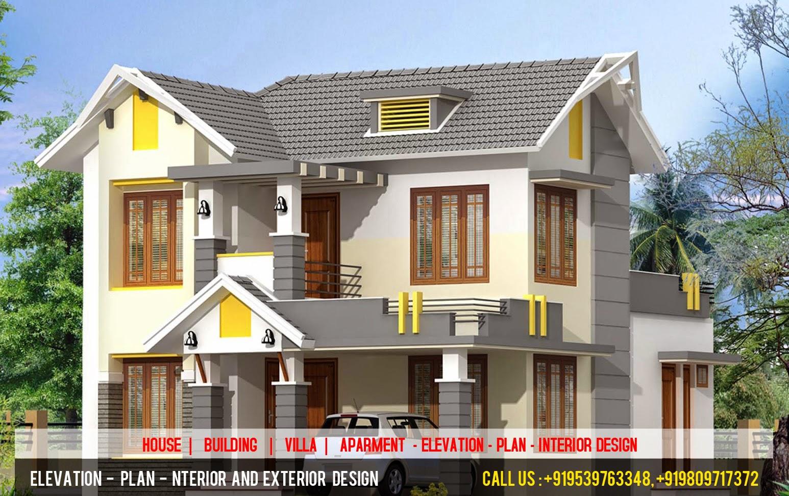 3d elevation plan designer best 3d elevation plan for Kerala house 3d elevation design