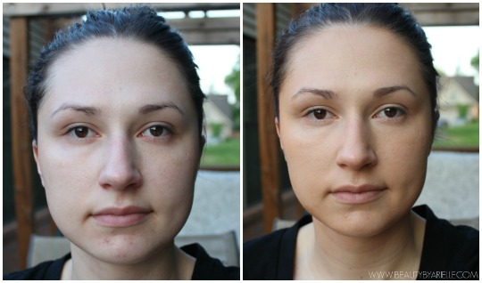 Physician's Formula Organic Wear CC Cream before and after