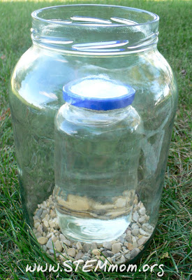 Two jars used in Worm Home, to keep worms to the outside: STEMmom.org