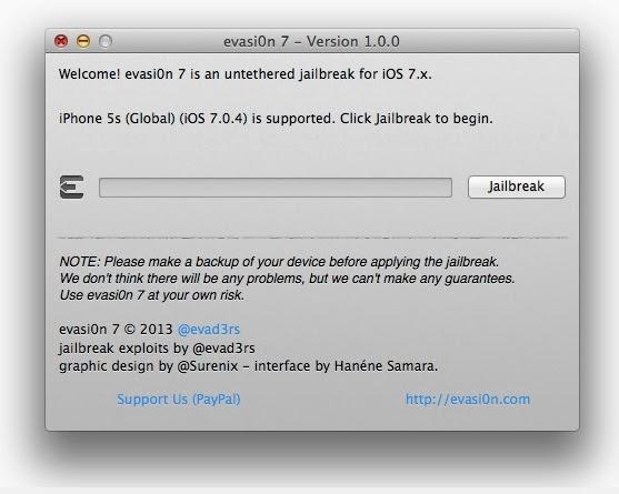 How To Jailbreak iOS 7 Jailbreak From Evasi0n for iPhone (4, 4s, 5, 5s) , iPad (2, 3, 4, iPad Air, iPad mini(mini, mini 2). Backup first...