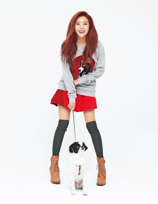 Foto T-ara Hyomin for CeCi Magazine Edisi Januari 2013