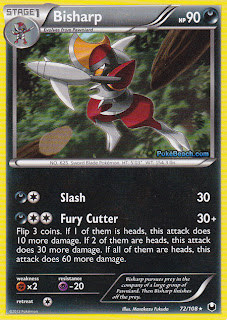 Bisharp Dark Explorers Pokemon Card