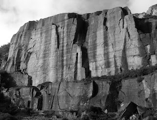 Drury's Drama/Dilemma Buttress, Llanberis Pass North, Andy McQue, Johnny Dawes, Climber Bob Drury, Dinas Cromlech