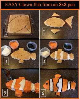 clown fish cake, fish cake, how to make a fish cake, cake