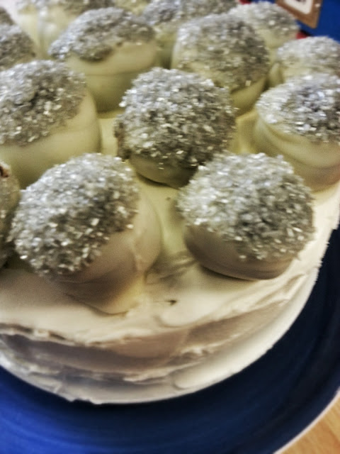 Blue Velvet Cake with Double Chocolate Cake Pop Truffles