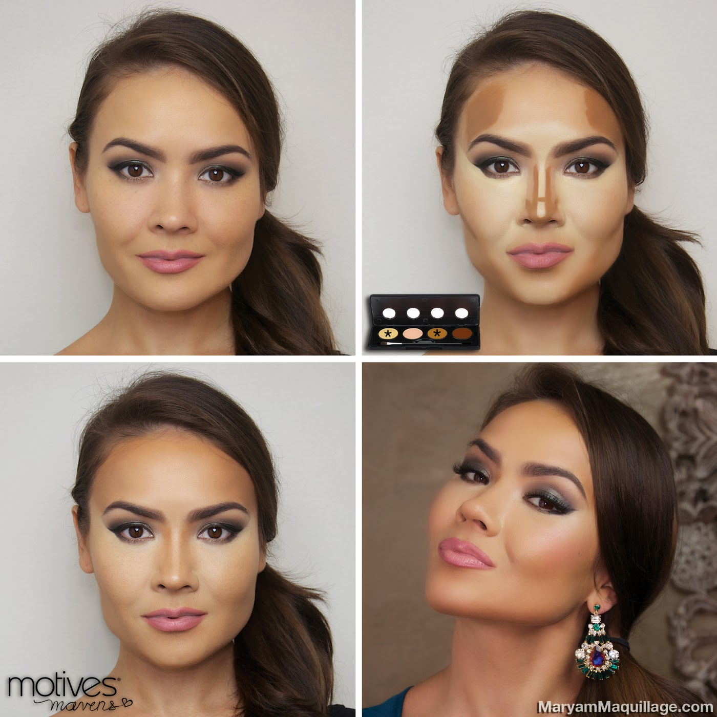 Maryam maquillage motives mavens palettes contouring tutorial my skin tone medium with warm yellow undertones baditri Gallery