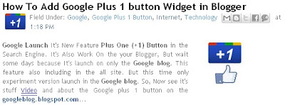 Google plus one (+1) button image in blogger or wordpress
