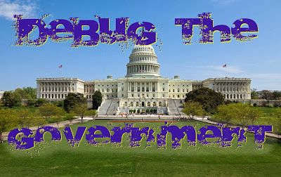 Debug the Government, USA, capitol, federal, politics, reform